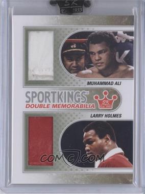 2010 Sportkings Series D Double Memorabilia Silver #DM-05 - Muhammad Ali, Larry Holmes