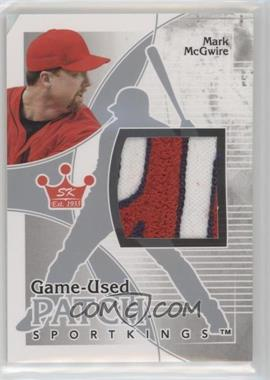 2010 Sportkings Series D Game-Used Patch Silver #P-09 - Mark McGwire