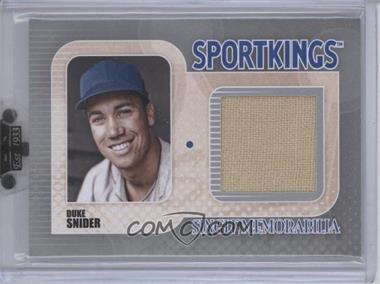 2010 Sportkings Series D Single Memorabilia Silver #SM-09 - Duke Snider