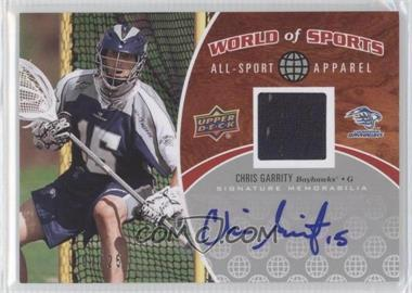 2010 Upper Deck World of Sports - All-Sport Apparel - Autographs #ASA-55 - Chris Garrity /25