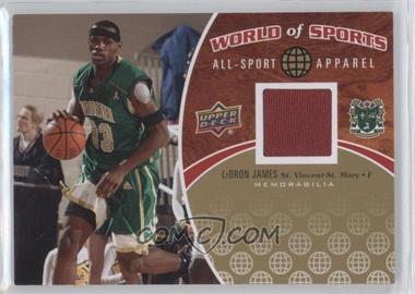 2010 Upper Deck World of Sports - All-Sport Apparel #ASA-1 - Lebron James