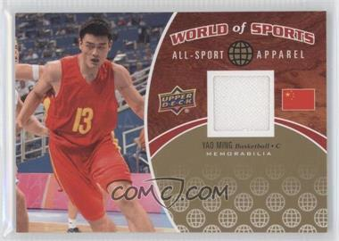 2010 Upper Deck World of Sports - All-Sport Apparel #ASA-3 - Yao Ming