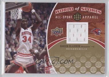 2010 Upper Deck World of Sports - All-Sport Apparel #ASA-8 - Hakeem Olajuwon