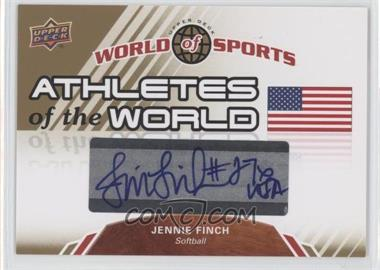 2010 Upper Deck World of Sports - Athletes of the World #AW-46 - Jennie Finch