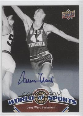 2010 Upper Deck World of Sports - [Base] - Autograph [Autographed] #11 - Jerry West