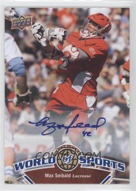 2010 Upper Deck World of Sports - [Base] - Autograph [Autographed] #299 - Max Seibald