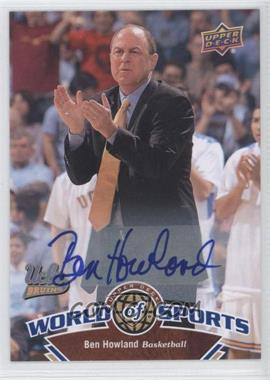 2010 Upper Deck World of Sports - [Base] - Autograph [Autographed] #365 - Ben Howard