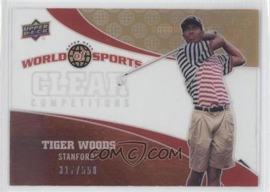 2010 Upper Deck World of Sports - Clear Competitors #CC-13 - Tiger Woods /550