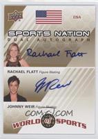 Rachael Flatt, Johnny Weir /50