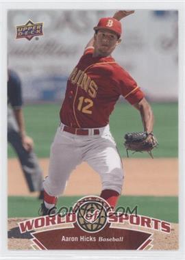 2010 Upper Deck World of Sports [???] #132 - Aaron Hill