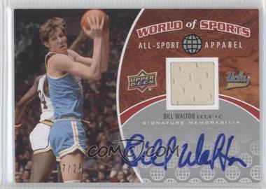 2010 Upper Deck World of Sports All-Sport Apparel Autographs #ASA-12 - Bill Walton /25