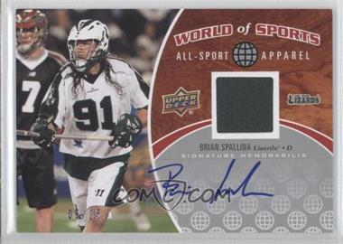 2010 Upper Deck World of Sports All-Sport Apparel Autographs #ASA-50 - [Missing] /25