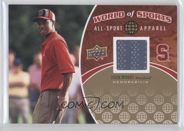 2010 Upper Deck World of Sports All-Sport Apparel #ASA-17 - Tiger Woods