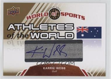 2010 Upper Deck World of Sports Athletes of the World #AW-40 - Karrie Webb