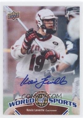 2010 Upper Deck World of Sports Autograph [Autographed] #290 - Kevin Leveille