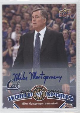 2010 Upper Deck World of Sports Autograph [Autographed] #352 - Mike Montgomery