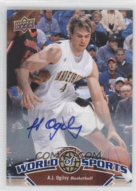 2010 Upper Deck World of Sports Autograph [Autographed] #54 - A.J. Ogilvy
