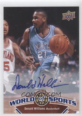 2010 Upper Deck World of Sports Autograph [Autographed] #58 - Donald Williams