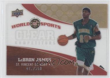 2010 Upper Deck World of Sports Clear Competitors #CC-1 - Lebron James /550