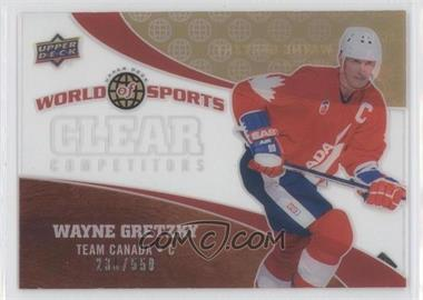 2010 Upper Deck World of Sports Clear Competitors #CC-16 - Wayne Gretzky /550