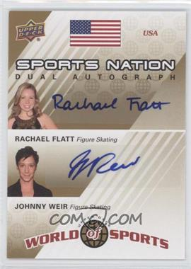 2010 Upper Deck World of Sports Sports Nation Dual Autograph #SND-FW - Rachael Flatt, Johnny Weir /50