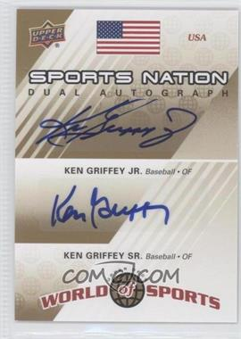 2010 Upper Deck World of Sports Sports Nation Dual Autograph #SND-GG - Ken Griffey Jr., Ken Griffey /50