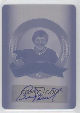 2011 Leaf Legends of Sport - Award Winners - Printing Plate Magenta #AW-2 - Bernie Parent /1