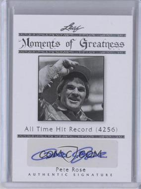 2011 Leaf Legends of Sport - Moments of Greatness - Silver #MG-26 - Pete Rose /10
