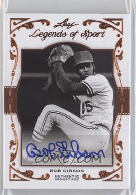2011 Leaf Legends of Sport [???] #BA-13 - Bob Gibson /20