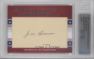 2011 Leaf Sports Icons Cut Signatures - [Base] #JOBR - Joseph Brennan /1 [BGSAUTHENTIC]