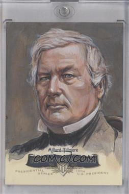2011 Upper Deck Goodwin Champions - Goodwin Masterpieces Presidential Series Autographed by Artist #GMPS-13 - Millard Fillmore /10