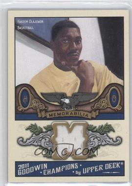 2011 Upper Deck Goodwin Champions Authentic Memorabilia #M-OL - Hakeem Olajuwon