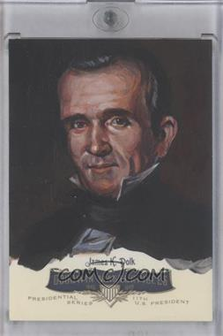 2011 Upper Deck Goodwin Champions Goodwin Masterpieces Presidential Series Autographed by Artist #GMPS-11 - James K. Polk /10