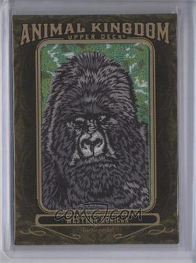 2011 Upper Deck Goodwin Champions Multi-Year Issue Animal Kingdom Manufactured Patches #AK-95 - Western Gorilla