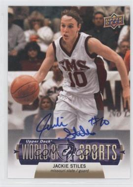 2011 Upper Deck World of Sports Autographs #64 - Jackie Stiles
