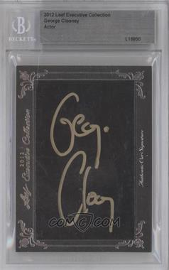 2012 Leaf Executive Collection Cut Signatures - [Base] #N/A - George Clooney [BGS AUTHENTIC]