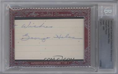 2012 Leaf Executive Collection Cut Signatures Masterpiece #GHMD - George Halas, Mike Ditka /1 [BGS AUTHENTIC]