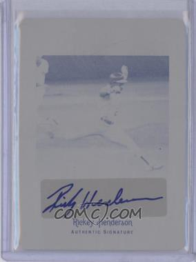 2012 Leaf Legends of Sport - Autographs - Printing Plate Black #BA-RH1 - Rickey Henderson /1