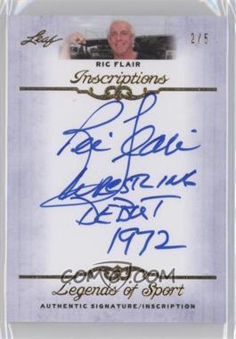 2012 Leaf Legends of Sport [???] #I-RF1 - Ric Flair /5