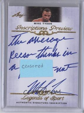 2012 Leaf Legends of Sport [???] #IP-MT1 - Mike Tyson