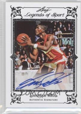 2012 Leaf Legends of Sport Autographs Silver #BA-DW1 - Dominique Wilkins /10
