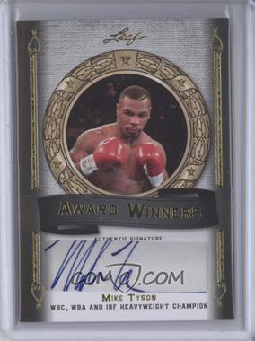 2012 Leaf Legends of Sport Award Winners Authographs Gold #AW-MT1 - Mike Tyson /5