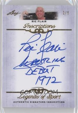 2012 Leaf Legends of Sport Inscriptions Gold [Autographed] #I-RF1 - Ric Flair /5