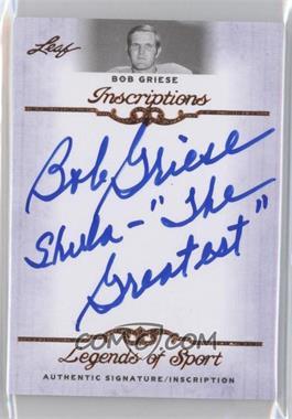 2012 Leaf Legends of Sport Inscriptions #I-BG1 - Bob Griese