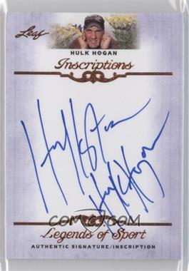 2012 Leaf Legends of Sport Inscriptions #I-HH1 - Hulk Hogan