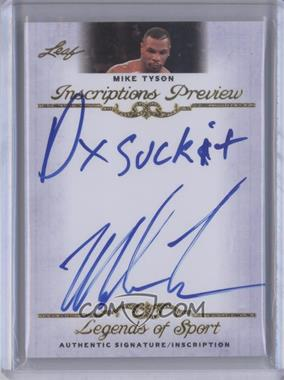 2012 Leaf Legends of Sport Inscriptions #IP-MT1 - Mike Tyson