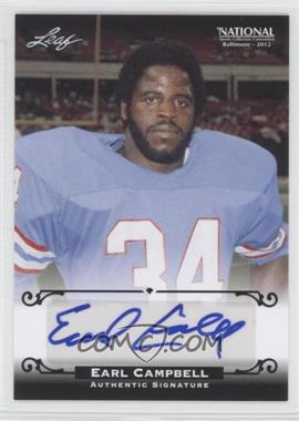 2012 Leaf National Convention Redemption Set Autographs [Autographed] #BA-1 - Earl Campbell /5