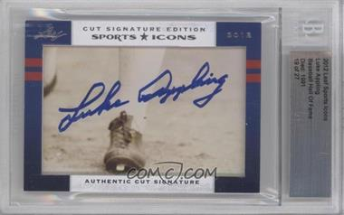 2012 Leaf Sports Icons Cut Signatures Authentic Cut Signature #N/A - Luke Appling /27 [BGS AUTHENTIC]