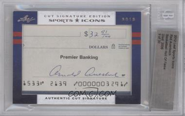 2012 Leaf Sports Icons Cut Signatures Authentic Cut Signature #REAU - Red Auerbach [BGS AUTHENTIC]