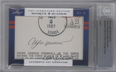 2012 Leaf Sports Icons Cut Signatures Authentic Cut Signatures Dual #ADBH - Andre Dawson, Billy Herman /3 [BGS AUTHENTIC]